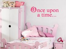 "Child's Wall Quote ""Once Upon A Time"", Wall Art Sticker, Vinyl Decal, Transfer."